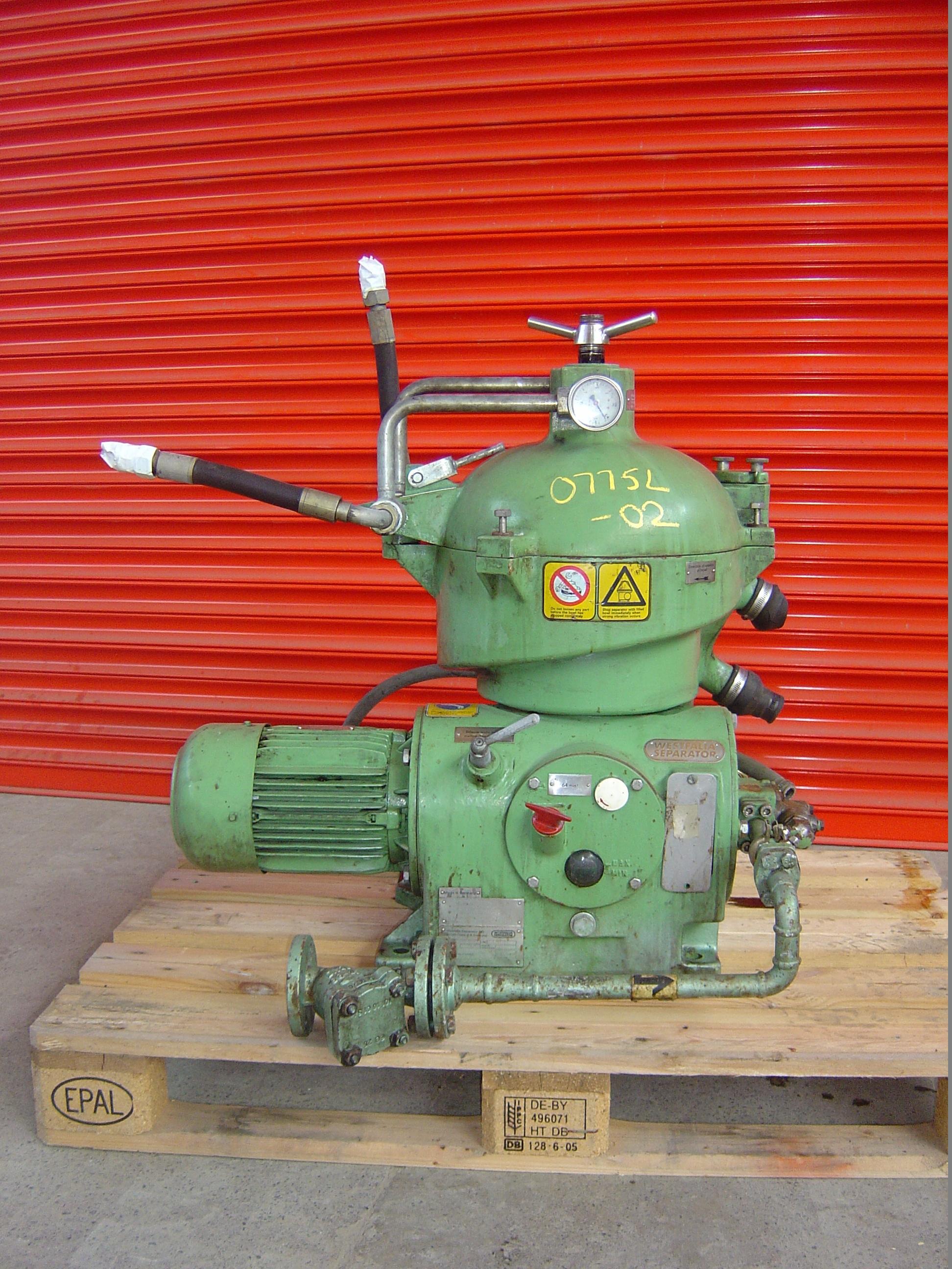 Westfalia Model OSC 4-02-066 Stainless Steel Self-Cleaning Separator