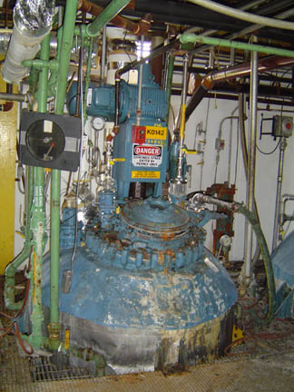 1,000 Gallon 100 FV Internal, 90 Jacket Pfaudler Glass Lined Reactor Body