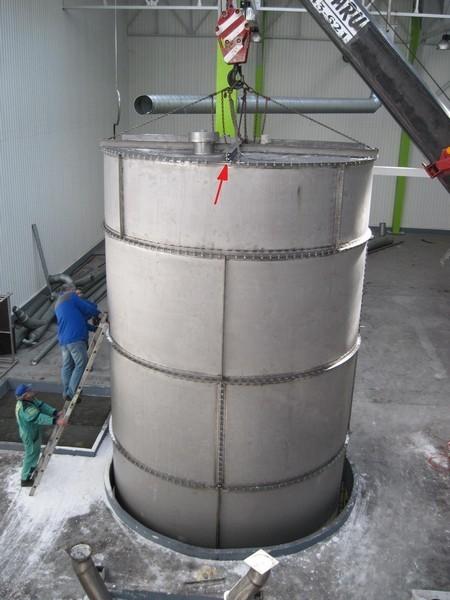80000 Liters (80 Cubic Meters) Stainless Steel Storage Tank 3500mm Diameter x 8500 High