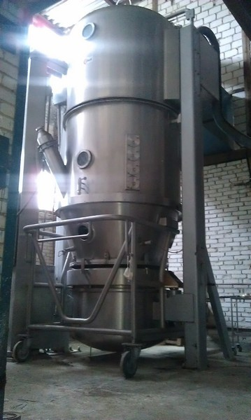 Glatt Model GPCG 300/500 Stainless Steel Fluid Bed Dryer