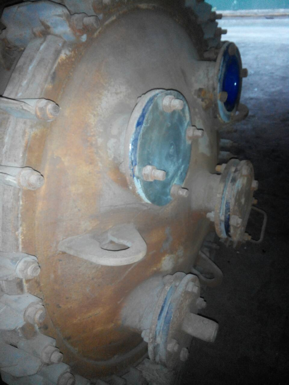 630 Liter 6 Bar Internal, 6 Bar Jacket Glass Lined Reactor Body