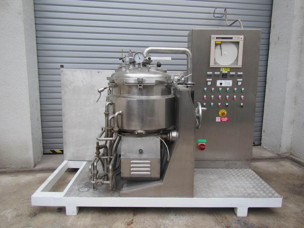 60 litrů, 4 kW, Chemtech model Unitron RU60 nerezový duplikovaný mixér