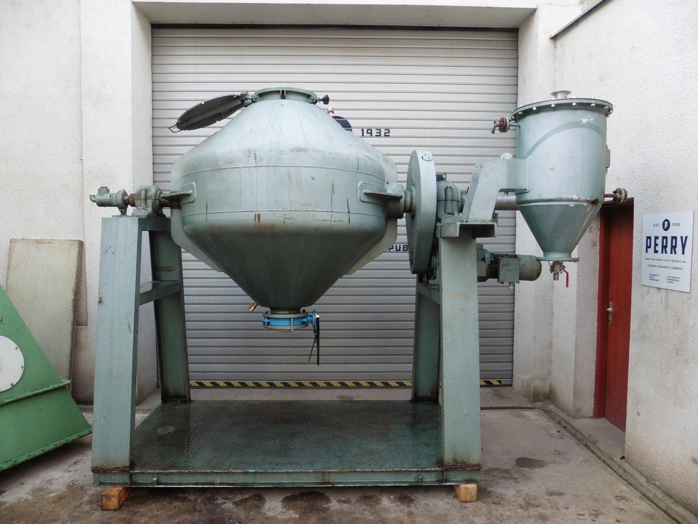 1200 litrů, Klein nerezová vakuová dvoukuželová rotační sušárna/homogenizátor
