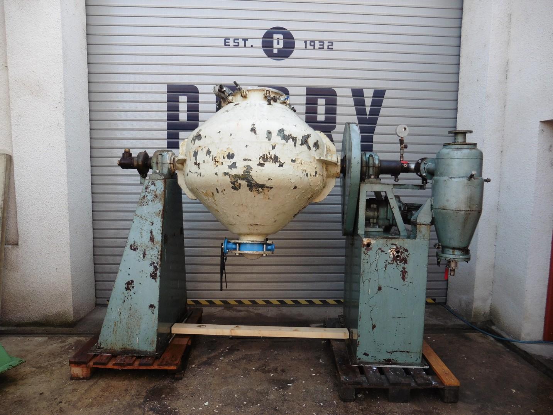 500 litrů, Klein nerezová vakuová dvoukuželová rotační sušárna/homogenizátor