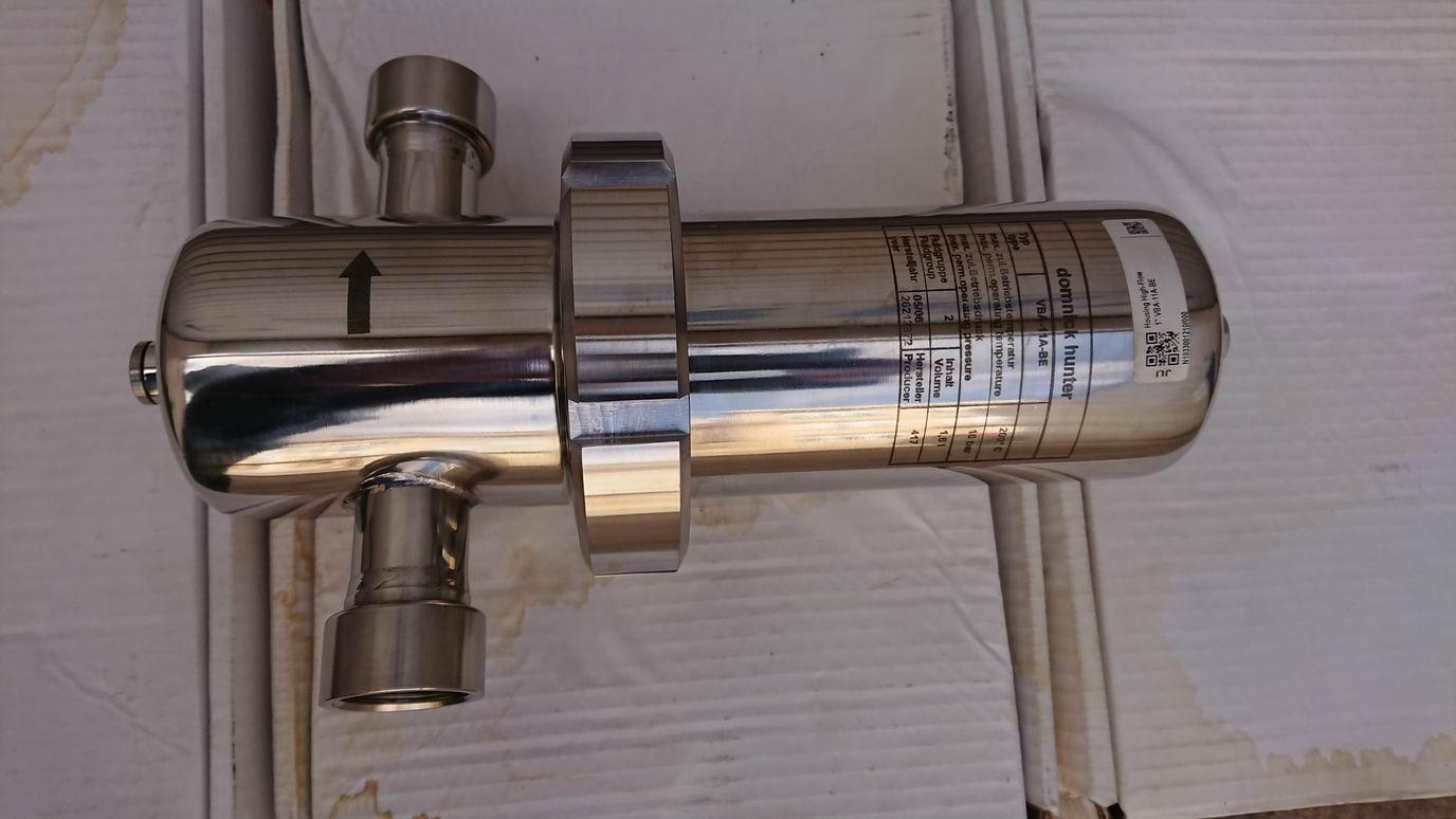 Parker Domnick Hunter VBA-11A-BE nerezové sanitární filtrační pouzdro