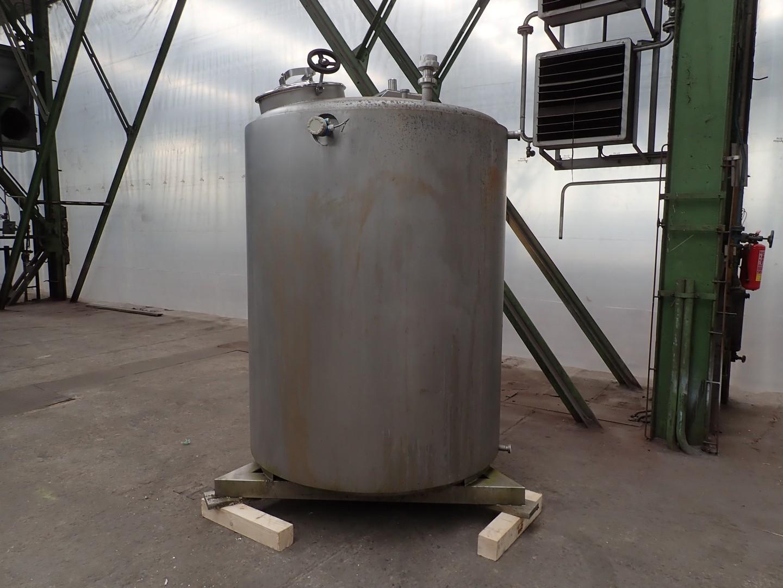 2500 litrů, nerezový vertikální duplikovaný míchaný zásobník