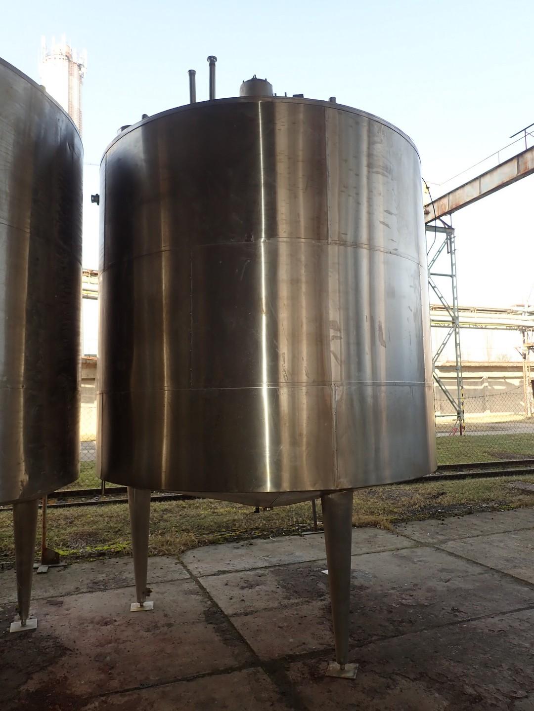 16000 litrů, Tenez TU 160 N nerezový vertikální duplikovaný míchaný zásobník, průměr 3000 mm x 4800 mm výška