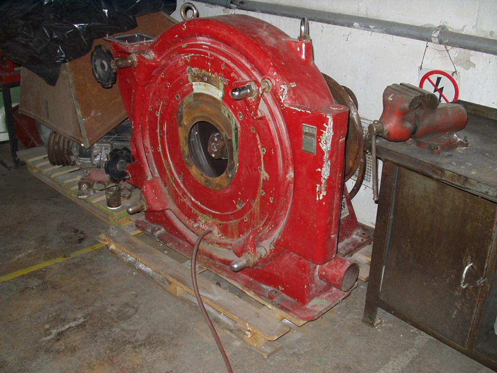 800 mm průměr rotoru, Pallmann model PP8 turbo mlýn z běžné oceli