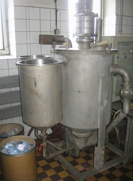 300 litrů, Flimer vakuový nerezový homogenizační aparát