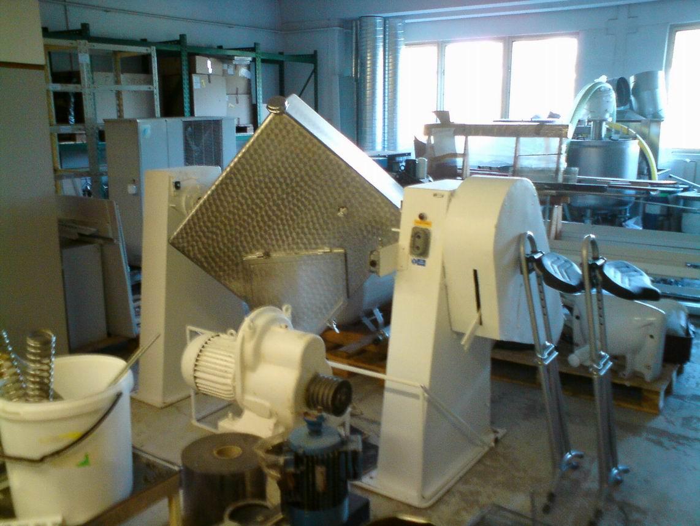 500 litrů, nerezový rotační homogenizátor práškových směsí