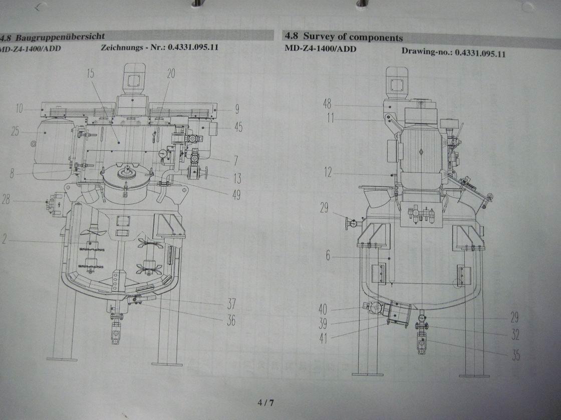 70 kW MTI model MD-Z4-1400/ADD nerezový duplikovaný homogenizátor