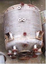 6950 litrů, -1/6 bar vnitřní, 6 bar duplikace, Hans Mayer Aparatenbau (AISI 316 Ti) nerezový duplikovaný míchaný reaktor