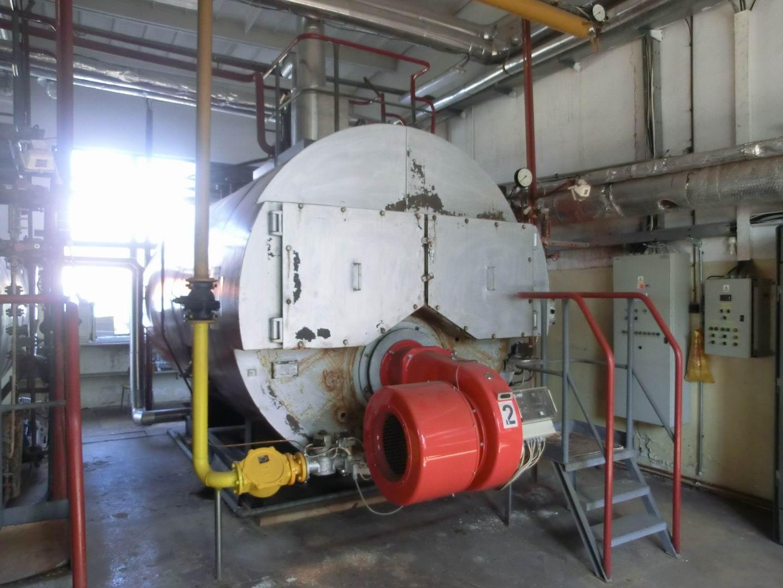 4000 kg/hod, Sigma Slatina model VSP 2500 vyvíječ páry s plynovým hořákem