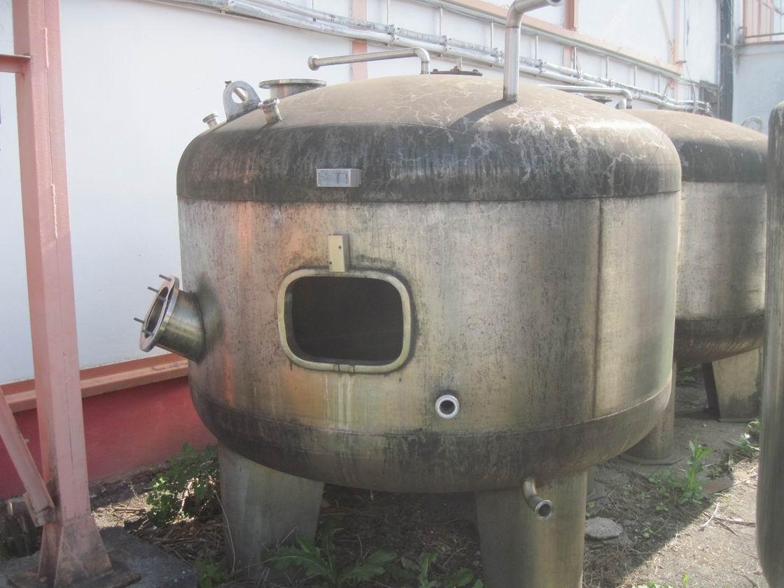 4000 litrů, nerezový vertikální míchaný zásobník, 2180 mm průměr x 1250 výška