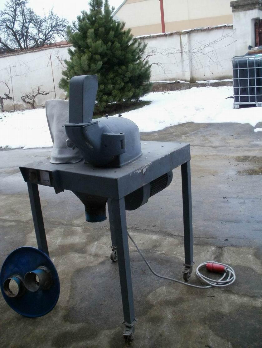 2,2 kW, 180 mm průměr rotoru, Pallmann turbo mlýn z litiny a běžné oceli