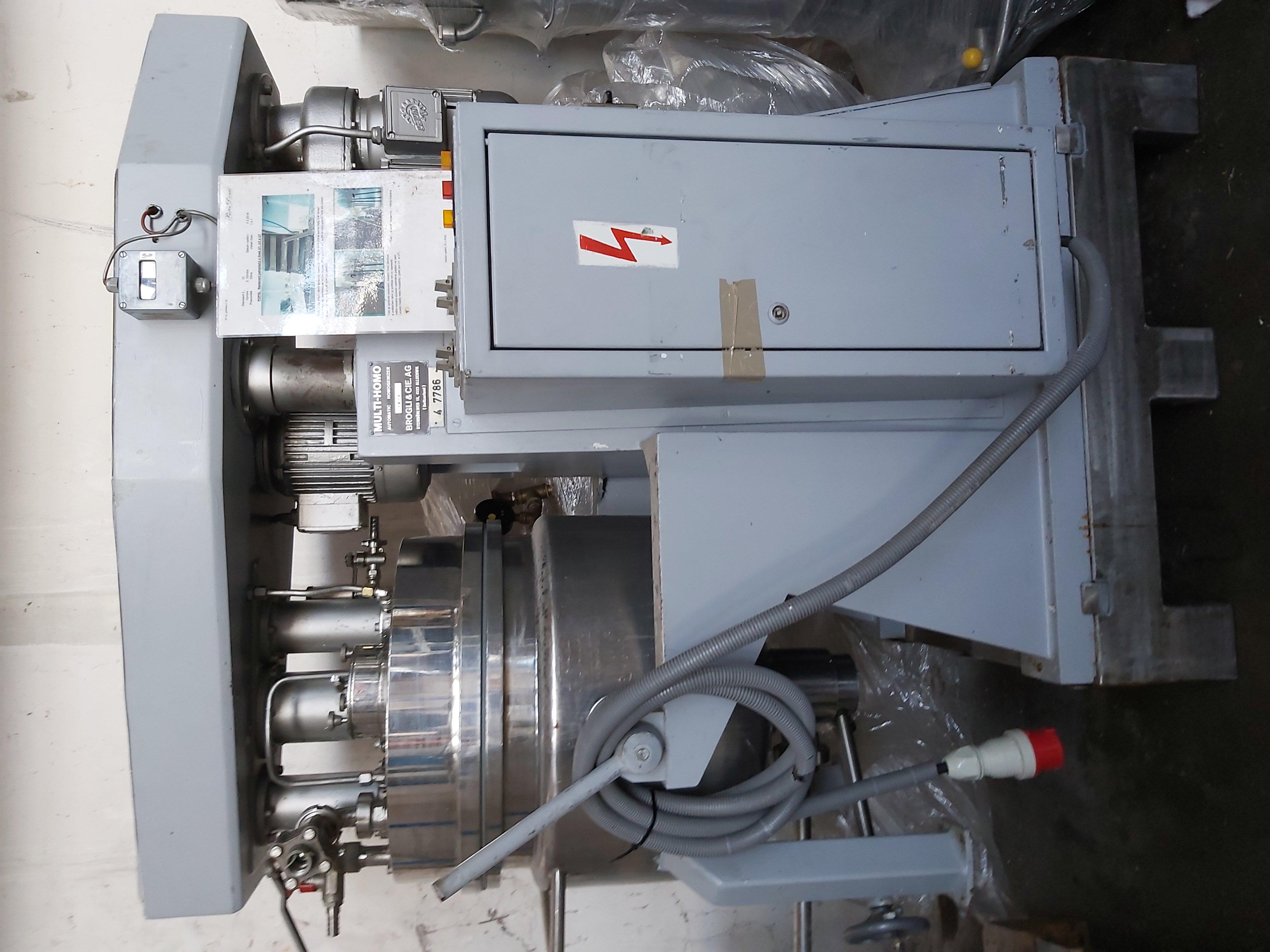50 litrů, Brogli model MH 50. Multi-homo nerezový duplikovaný vakuový homogenizer