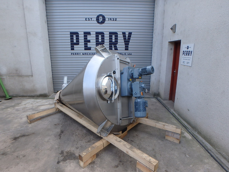 1000 litrů, PERRYmix model HV 1000 nerezový vertikální homogenizátor - nauta - NOVÝ