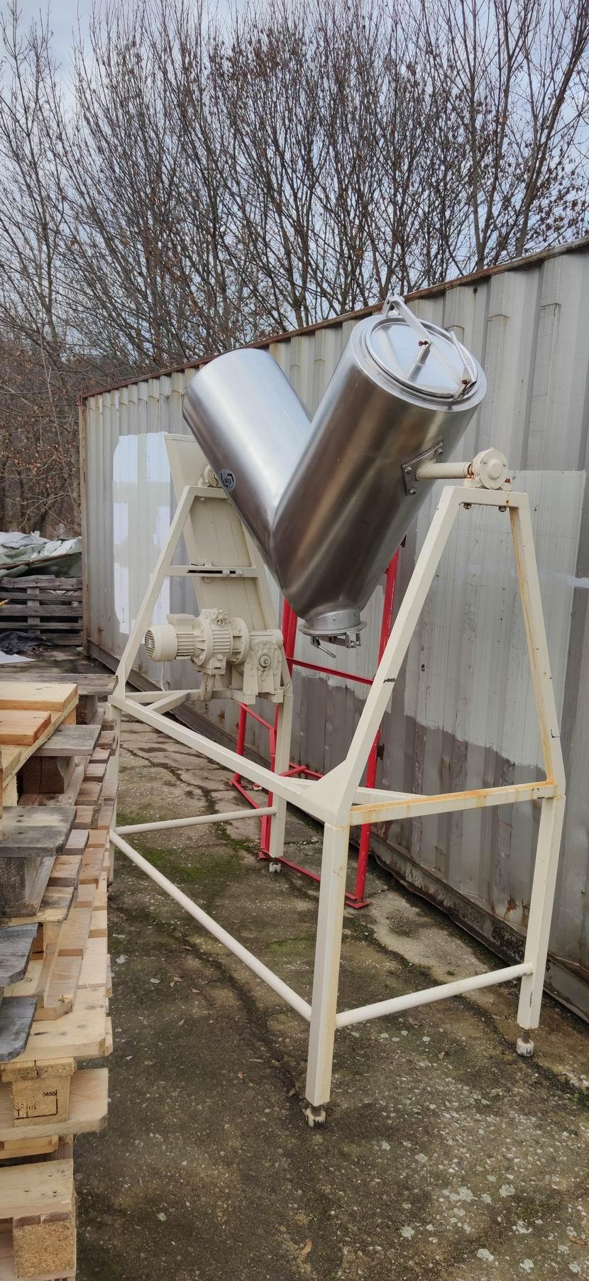 200 litrů, TTM, nerezový, V-mixer