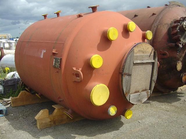8,000 Litre, 6 Bar Internal, 6 Bar Jacket, Pfaudler Glass Lined Reactor Body