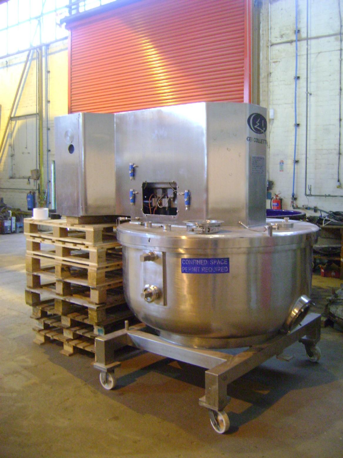 1,200 Litre Collette Type Gral1200 Stainless Steel Mixer Granulator