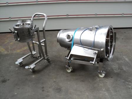 Glatt Model GPCG 3/5 Stainless Fluid Bed Dryer Parts