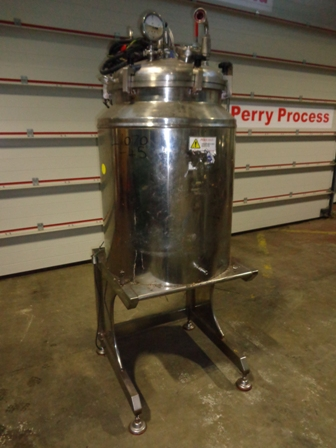 140 Litre Stainless Steel Jacketed Mixing Vessel, 550mm Dia x 600mm Straight Side
