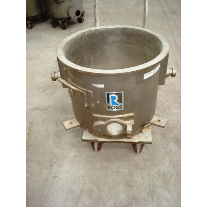 55 Litre Ross Stainless Steel Open Top Trolley Tanks 455mm Dia x 340mm Deep