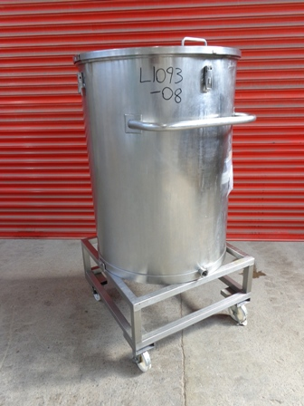 465 Litre Stainless Steel Vertical Storage Vessel, 1000mm Dia x 770mm Straight Side