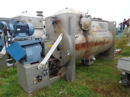 2500 litrů, Kemutec Gardner model 2500RH nerezový spirálový míchač