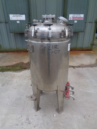 226 Litre Stainless Steel Vertical Jacketed Vessel, 600mm Dia x 800mm Straight Side