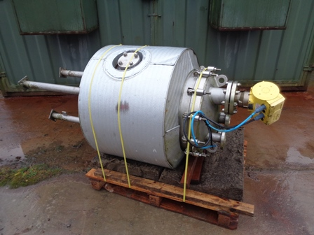 160 Litre PSV Fabrication Stainless Steel Vertical Vacuum Receiver Vessel, 600mm Dia x 600mm Straight Side