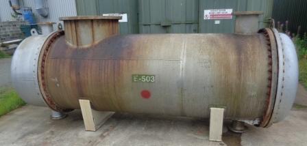 167.8 Sq. M. Horizontal Shell and Tube Heat Exchanger