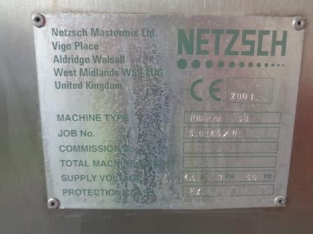 15.0 KW SS    50 LTR NETZSCH                     18000PS-UK