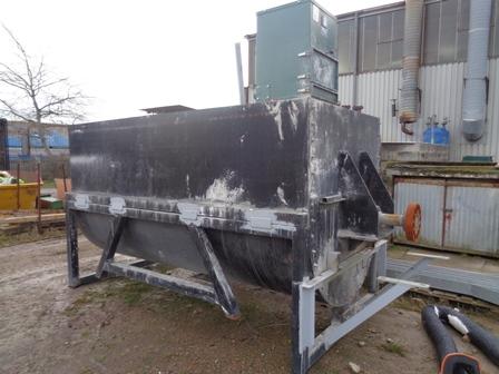 2500 litrů, spirálový míchač z běžné oceli