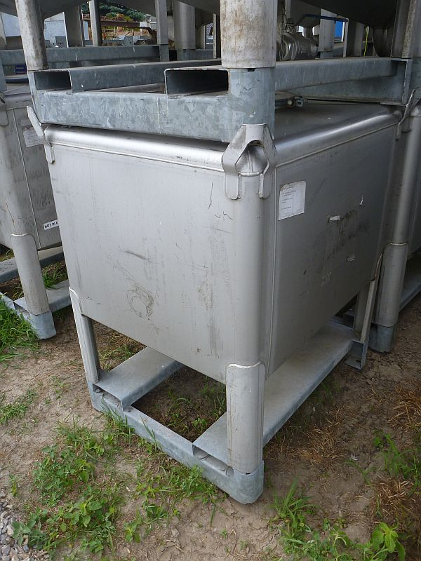 1030 Litre Gallay Stainless Steel Rectangular Storage IBC Tank