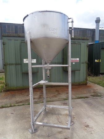 400 Litre Stainless Steel Storage Tank, 800mm Dia x 1300mm