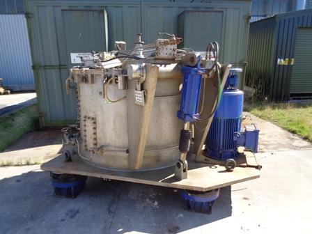 1250 mm x 630 mm, Krauss Maffei model VZU125/2,5C 1N nerezová bubnová odstředivka