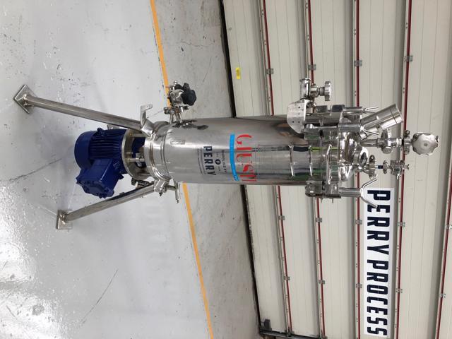 30 litrů, 11 bar vnitřní, 3,3 bar duplikace, Giustri nerezový vertikální duplikovaný míchaný reaktor