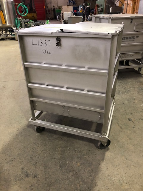 230 Litre Stainless Steel Mobile Bin