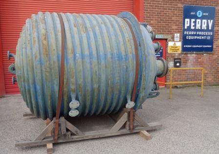 6000 litrů, 6 bar vnitřní, 6 bar duplikace, De Dietrich model STU6000 smaltovaný duplikovaný reaktor