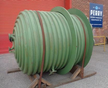 4000 litrů, 6 bar vnitřní, 6 bar duplikace, De Dietrich model CE4000 smaltovaný duplikovaný reaktor