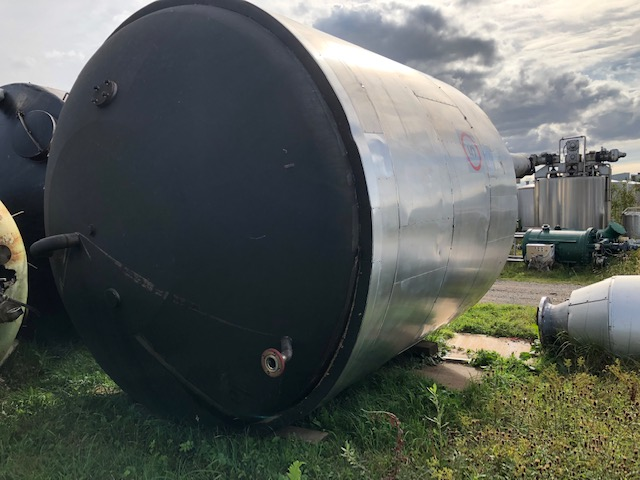 25,000 Litre Stainless Steel Vertical Storage Vessel, 3100mm Dia x 3250mm Straight Side