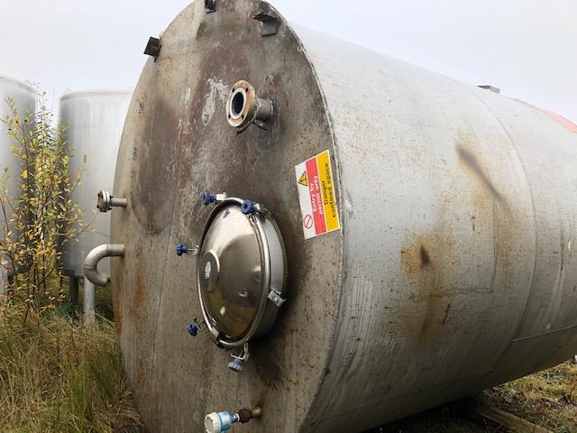 15000 litrů, Pontifex nerezový vertikální zásobník, průměr 2500 mm x 3000 mm výška