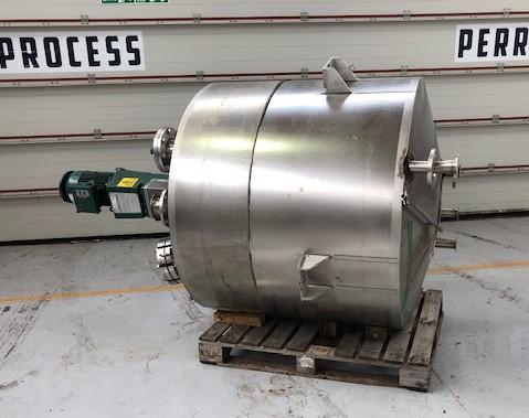 912 litrů, 6 bar vnitřní, 6 bar duplikace, Zetterstrom nerezový vertikální duplikovaný míchaný reaktor