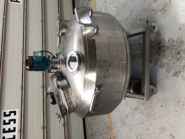 200 litrů, nerezový vertikální míchaný zásobník, průměr 1000 mm x 250 mm výška