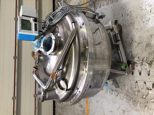 160 litrů, nerezový vertikální míchaný zásobník, průměr 900 mm x 250 mm výška