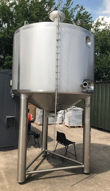 3,000 Litre Stainless Steel Storage Vessel, 1800mm Dia x 1200mm Straight Side