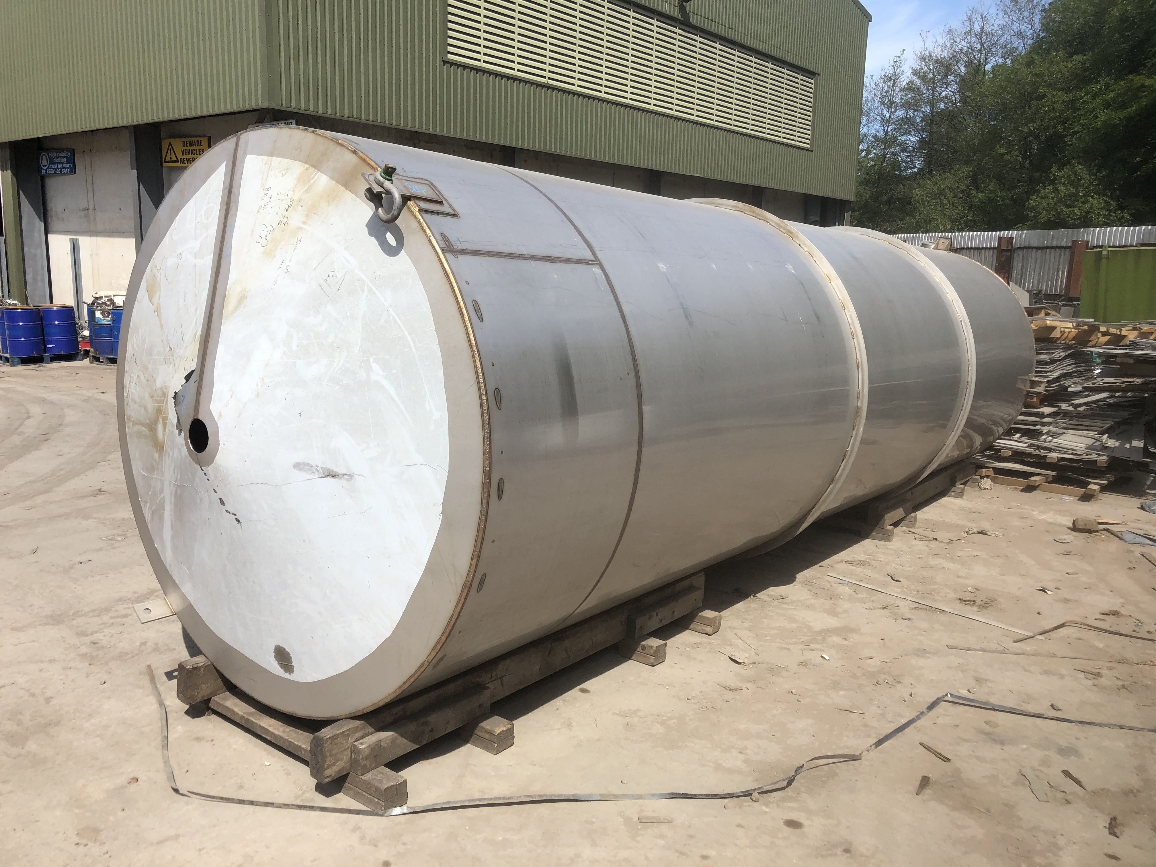 20,000 Litre Stainless Steel 316 Vertical Tank, 1,900mm Dia x 6,700mm Straight Side Unused
