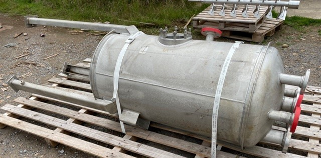 500 Litre Ardeth Stainless Steel Vertical Tank, 700mm Dia x 1300mm Straight Side