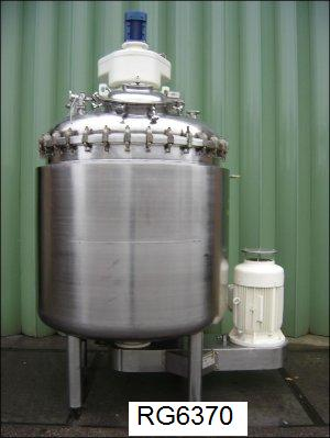 660 Gallon 40 HP Oskar Krieger Muttenz 304 Stainless Steel Processing Plant Reconditioned